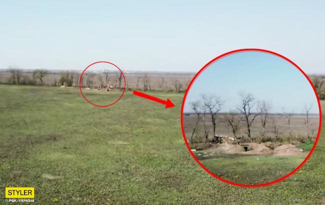 Готові завдати потужний вогонь: у мережі показали роботу безпілотника на фронті (відео)