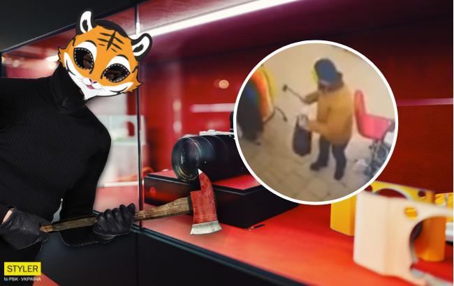 У масці тигра і з сокирою: у Кривому Розі працівники магазину затримали грабіжника