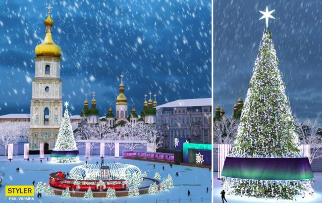 В цветах северного сияния: как будет выглядеть главная елка Украины (фото)