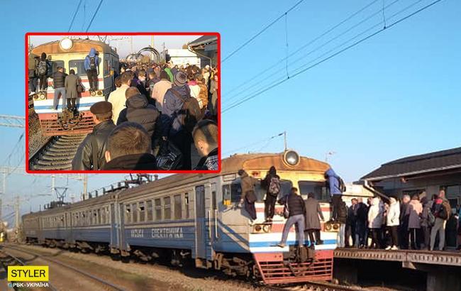 """""""Це Європа?"""": в мережі обурені аварійним станом київських електричок"""