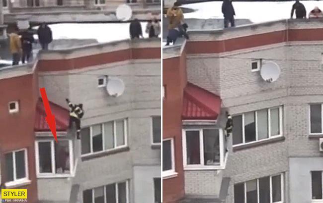В Броварах девушка хотела прыгнуть с 9 этажа: детали инцидента