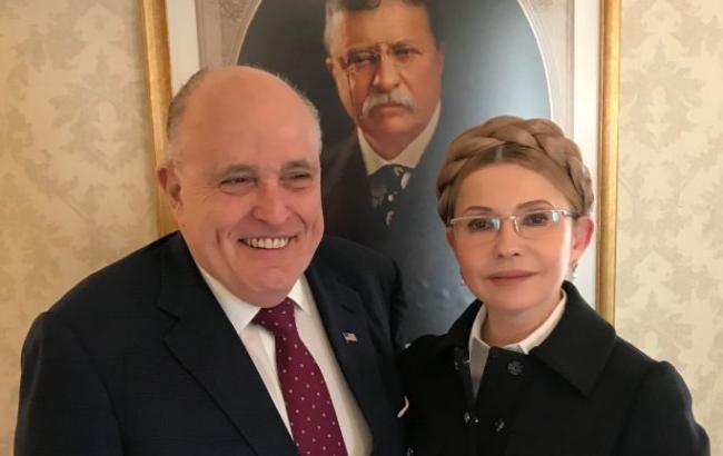 Тимошенко встретилась с экс-мэром Нью-Йорка