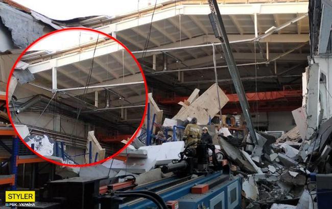 Обрушенная крыша завода похоронила под собой троих россиян (жуткое видео)