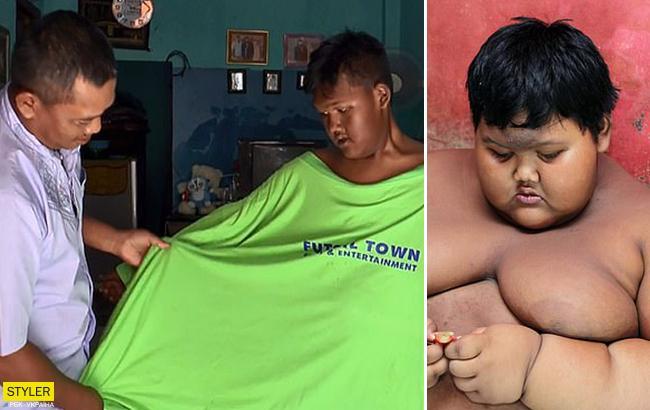 Хочет стать футболистом: 12-летний мальчик сбросил 95 кг (фото)