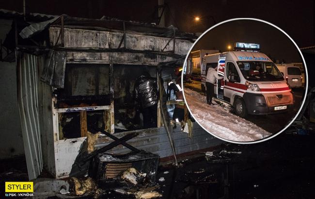 Пожар в Киеве: на СТО сгорел охранник в своей сторожке (видео, фото)