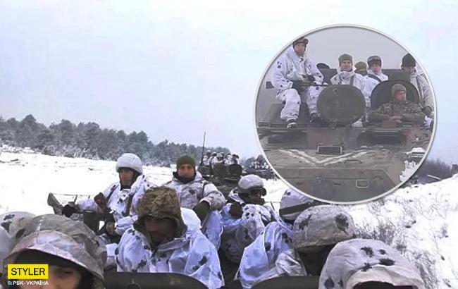 Танки, БТРы и тягачи: во Львовской области прошли военные учения (видео)