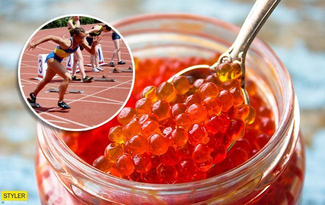 50 килограммов красной икры: обнародовали рацион спортсменов училища имени Бубки