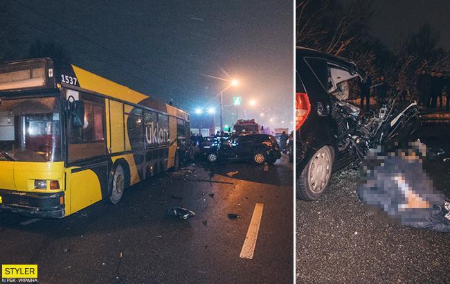 ДТП в Киеве: зажатая в авто беременная женщина скончалась на месте (фото)