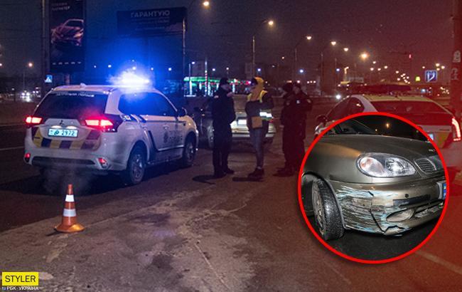 Погоня в Киеве: пьяный полицейский устроил ДТП (фото)