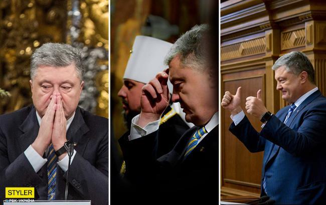 Прошлый год Порошенко в фотографиях