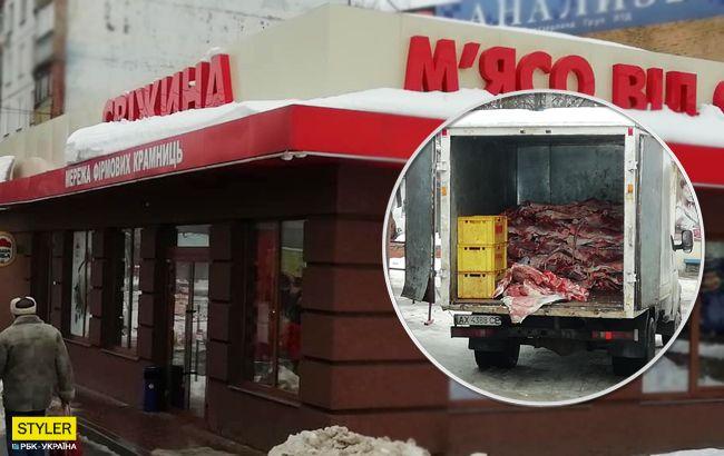 """""""Тоже мне, сенсация"""": украинцы обсуждают антисанитарную доставку мяса в магазины"""