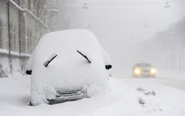 Фото: в Украине снегопады