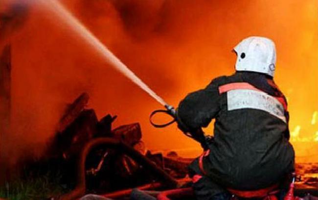 У Києві сталася пожежа на території МАУП