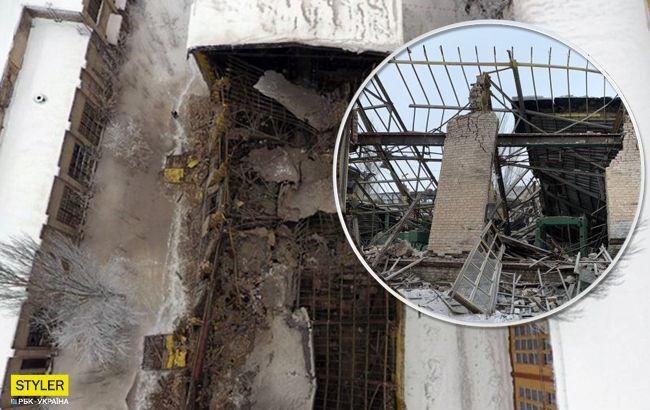 В окупованій Горлівці на заводі обрушилися стіни: загинула людина (фото)