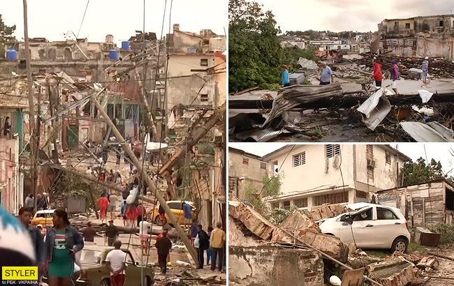 Сотні постраждалих: з'явилося відео руйнівного торнадо на Кубі
