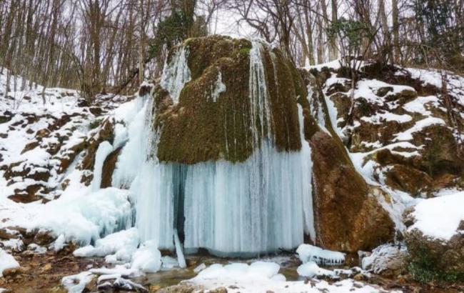 Фото: в Крыму обрушился водопад Серебряные струи