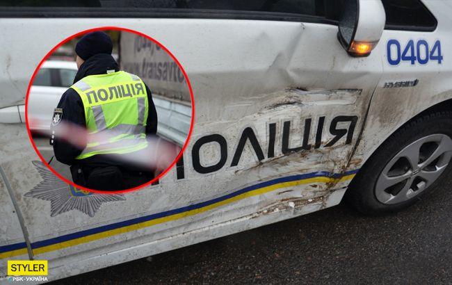 Наехал на патрульного: в Киеве задержали агрессивного водителя