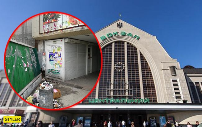 Іржа і гори сміття: з'явилися жахливі фото київського вокзалу