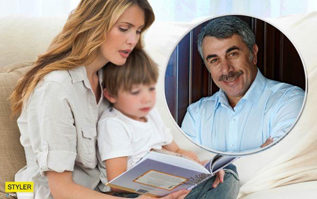 Комаровський розповів, як заохотити дитину до читання