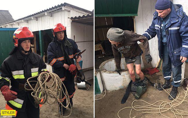Під Рівним чоловіка засмоктало у мулову пастку в 20-метровому колодязі (фото, відео)