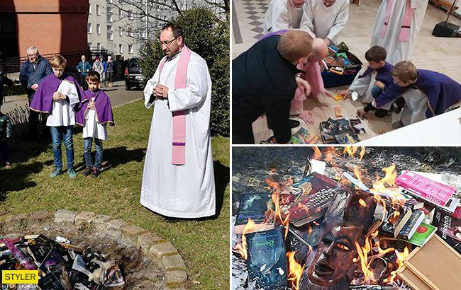 21 век на дворе: cвященники сожгли книги о вампирах и Гарри Поттере
