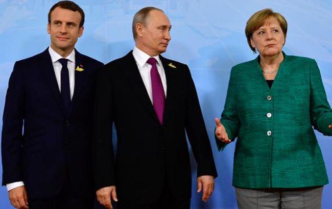Меркель и Макрон обсудили с Путиным воплощение минских соглашений