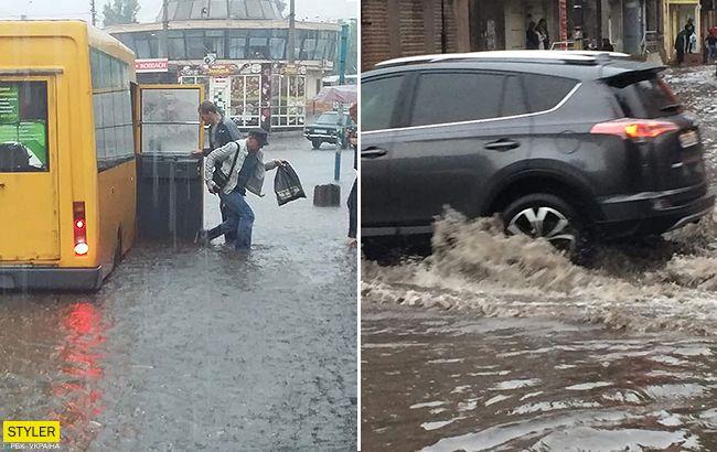 Улицы превратились в реки: еще один украинский город ушел под воду. Видео
