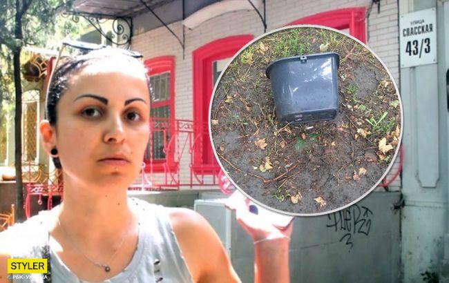 Убью всех, сожгу квартиру: в Николаеве владелец кафе облил девушку помоями и избил (видео)