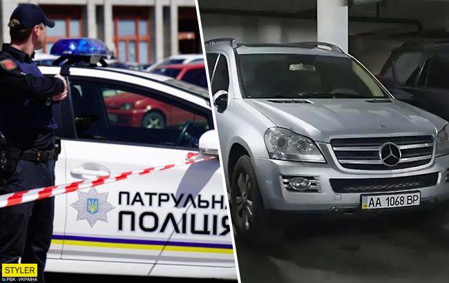 Проїхався по новому пішохідному мосту: в Києві знайшли героя парковки на Мерседесі