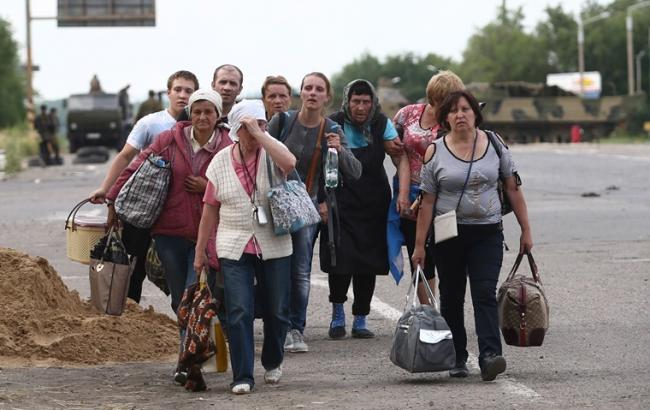 Фото: украинские беженцы