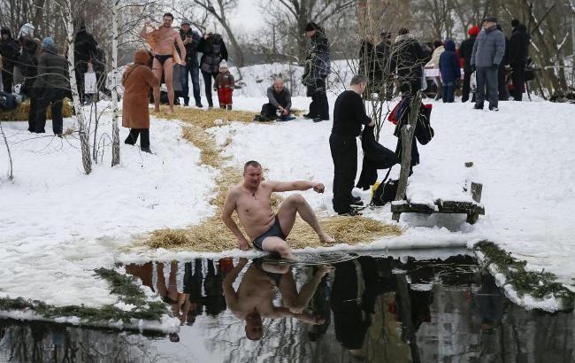 Фото: Водохреща у Києві (Reuters)