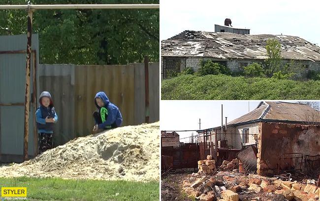 Подвиг местных и месть оккупантов: как живет село на руинах Луганского аэропорта (видео)