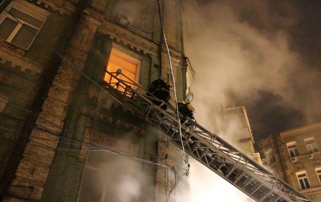 Фото: пожар в Киеве