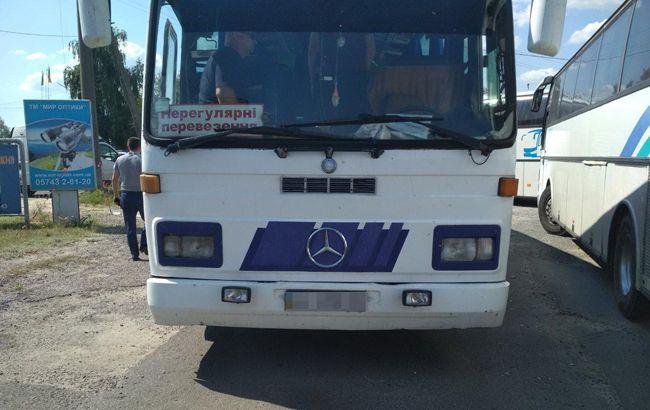 В Харьковской области задержали автобусы с подозрительными пассажирами