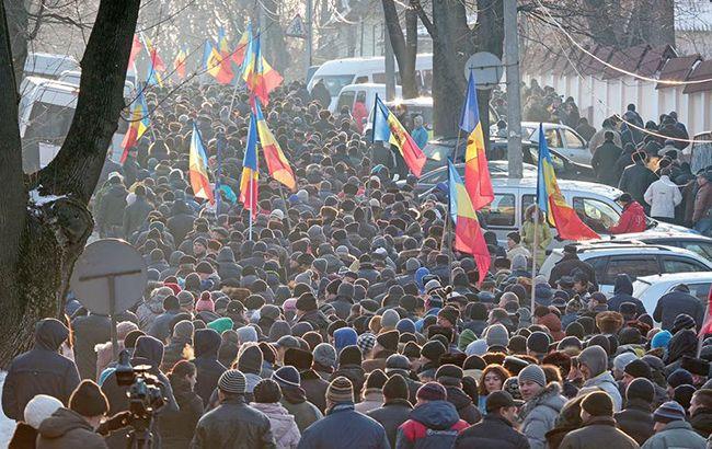 В центре Кишинева проходят массовые протесты против нелегитимного правительства