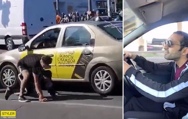 Я тебе зараз зламаю: бійка таксиста з пасажиром в Києві розсварила мережу
