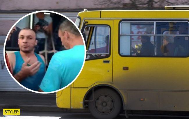 Душил инвалида: в Киеве маршрутчик набросился на ветерана войны (видео)