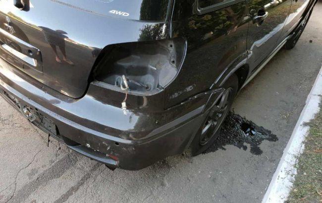 В Першотравенске подорвали автомобиль начальника полиции
