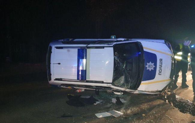 У Харкові автомобіль поліції потрапив в ДТП, є постраждалі