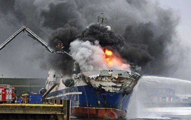 У берегов Норвегии затонуло российское судно