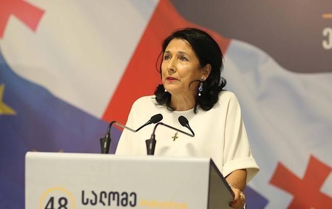 Президент Грузии заявила, что страна будет пытаться вести диалог с РФ