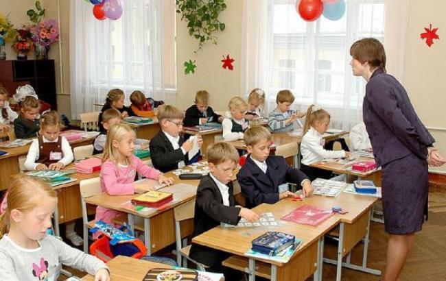 Фото: школярі у Києві