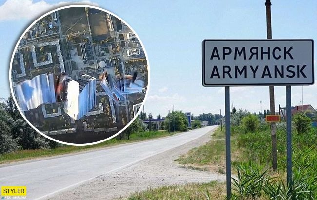 """Волонтери незвичайним способом передали """"привіт"""" в окупований Крим (відео)"""