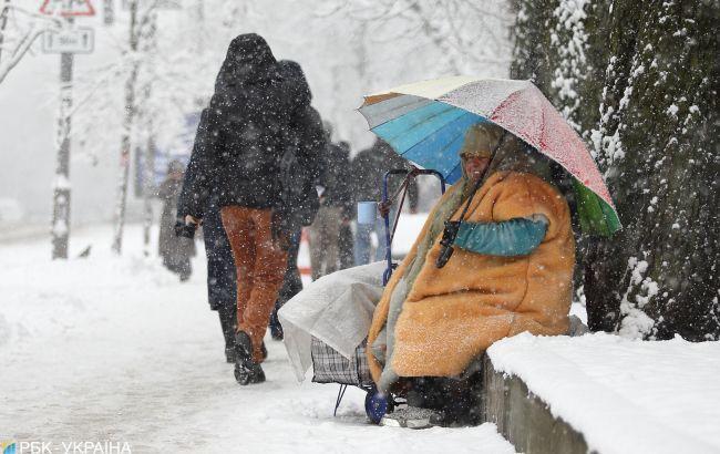 В Україні на вихідних очікується різке похолодання та сніг