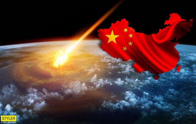 В Китае рухнул огромный метеорит: появилось яркое видео