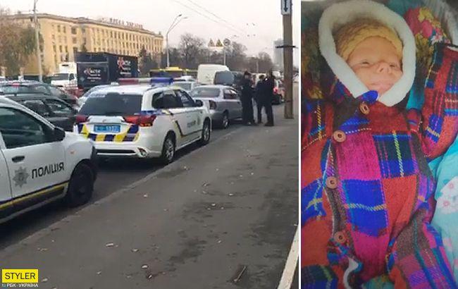 В Киеве задержали авто похитителей младенца из Коцюбинского (видео)
