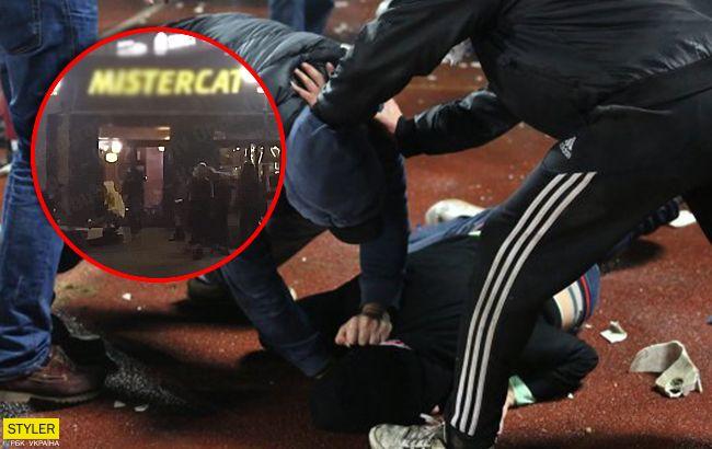 З'явилося відео масштабної бійки зі стріляниною в ресторані Києва