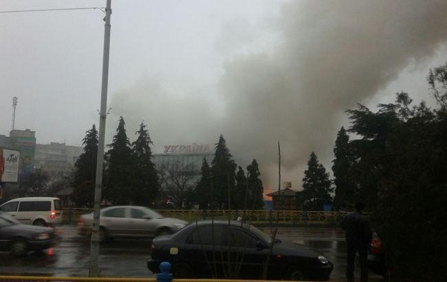 Фото: пожар в Ужгороде