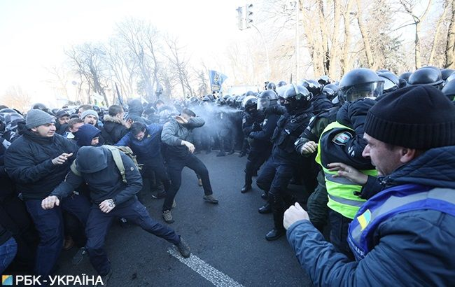 Сутички під Радою: у поліції повідомили про постраждалих і затриманих