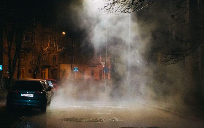 В Киеве прорвало еще одну трубу в районе Севастопольской площади